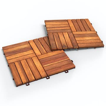 Trall Interbuild Acacia 30x30 Golden Teak 10-pack