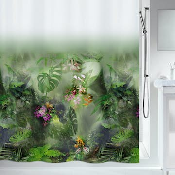 Duschdraperi Spirella Jungle 180X200